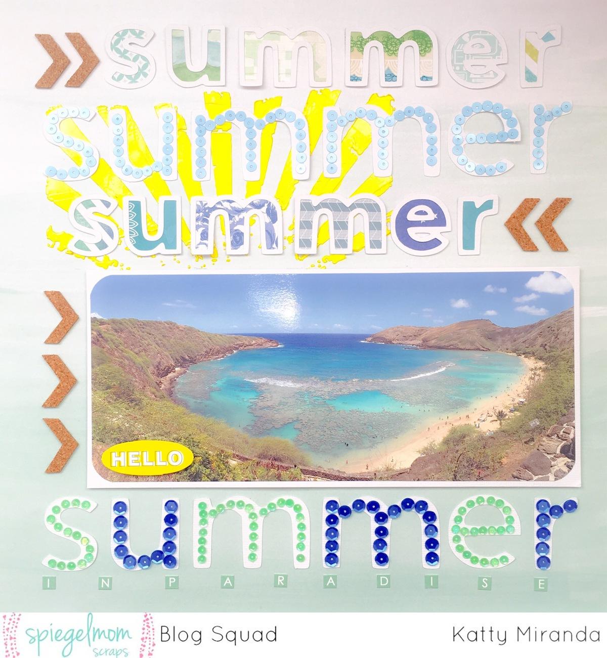 Summer in Paradise Layout- SpiegelmomScraps